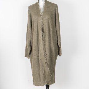 Linen/cotton knit long duster cardi - XL
